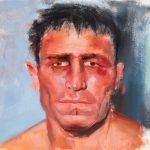 "Battered Man 2 - 16"" x 20"" - Oil on Artboard"