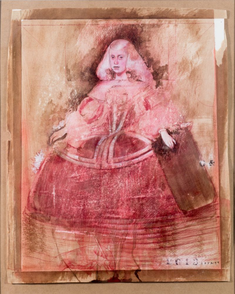 Infanta - coloured pencil and ink on board
