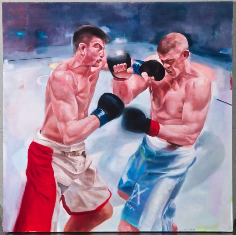 """Punch - 42\"""" X 42\"""" - Oil on Canvas"""