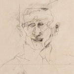 "Self Portrait with Big Idea - 12"" x 15"" - Pencil on Paper"