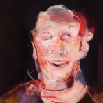"""Laughing Man - 12"""" x 10"""" - Oil on Paper"""