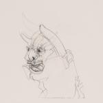 "Self Portrait as Monster - 12"" x 15"" - Pencil on Paper"